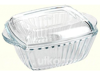 "Ovenware with cover ""Borcam"" 2600 ml, 1 pcs.1/4"
