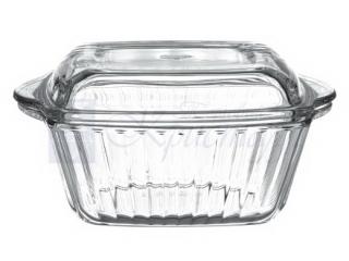 """Жаропрочная посуда с крышкой """"Borcam"""" 1150 мл."""