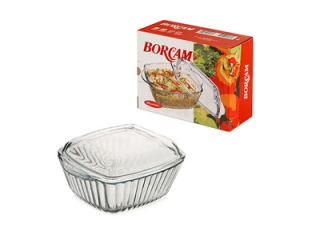 "Ovenware with cover ""Borcam"" 1150 ml."