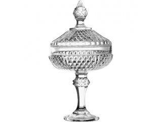 "Footed bowl with cover ""Diamond"", 1 pcs."