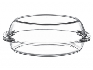 "Ovenware with cover ""Borcam"" 2300 ml.  1 pcs."