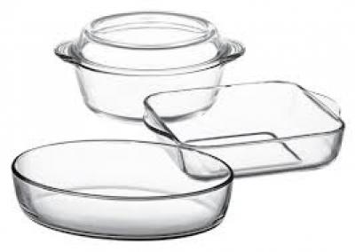 "Set vase termorezistente ""Borcam"", 4 pcs., Vase termorezistente ""BORCAM"","