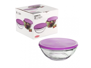 "Set bowls with cover ""Chef`s"", 2 pcs. 1/12"