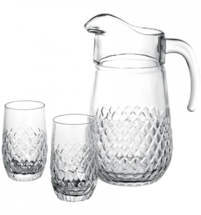 "Water set ""Bolero"", 7 pcs., Pitcher and glasses set,"