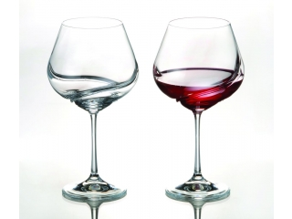 "Set wine glasses ""Turbulence"" 570 ml, 2 pcs."