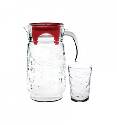 "Water set""Pastoral"", 7 pcs., Pitcher and glasses set,"