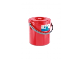 "Waste bucket ""Eureka"" red, 20 l, 1 pcs."