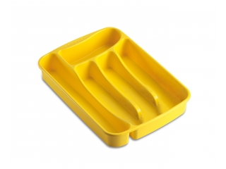 "Cutlery tray ""Primavera"" yellow, cm 25*34*5h, 1 pcs."