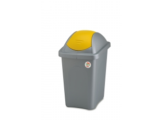 "Waste bucket ""Multipat"" yellow  60 lt, 1 pcs."