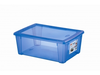 Multifunctional box with cover L, blue, 1 pcs.