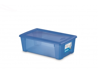 Multifunctional box with cover M, blue, 1 pcs.