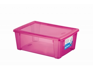 Multifunctional box with cover L, pink, 1 pcs.