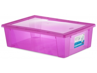 Multifunctional box with cover XXL, pink, 1 pcs.