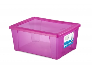 Multifunctional box with cover XL, pink, 1 pcs.
