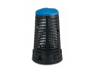 """Trespolo"" Dumpster black with blue lid, 58cm h90cm, 1 pcs."