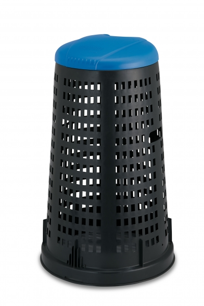 """Trespolo"" Tomberon negru cu capac albastru 58cm h90cm, 1 buc., Tomberoane,"
