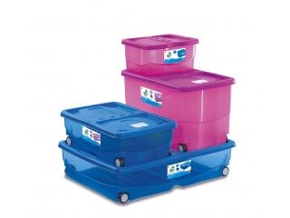 Multifunctional box pink on wheels XXL, 1 pcs.