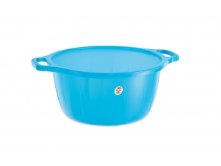 """Hygiene Line"" Wash bowl transparent blue D.40 cm, 1 pcs."