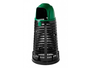"""Trespolo"" Dumpster black with green lid, 58cm, h.107cm, 1 pcs."