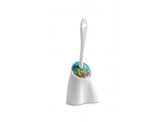 """Cucciolo"" Toilet brush white D.17cm, H.38cm, 1 pcs."