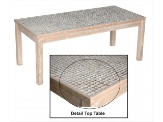 "Masa pt. sufragerie din lemn de Tec/Cocos ""Medan"",194x89x77, 1 buc."
