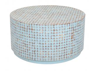 Masa rotunda din lemn de cocos/Mango,93x93x47, 1 buc.