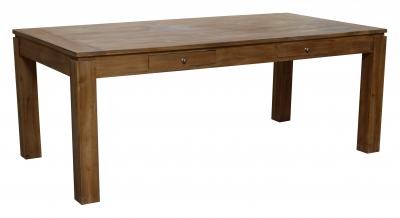 Masa Cambridge din lemn Tec cu 2 sertare, 200x95x77,1 buc., Table,
