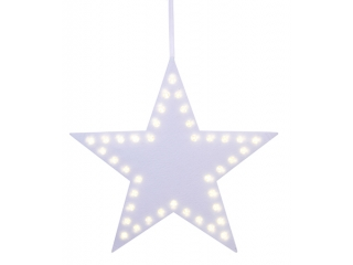"Silueta LED ""Star""  White 44cm, 1buc"