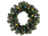 "Coronita artificiala ""Ottawa Wreath "" cu LEDuri, multicolor 38cm, 1 buc"
