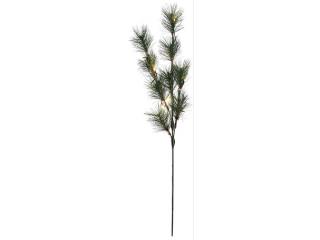"Decor ""Pin Branch"" Green 12 Led, 95 cm, 1 buc"