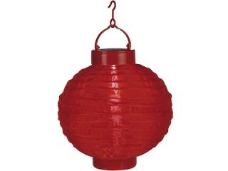 "Decor ""Rice ball"" Red, Led en.solara, 20cm, 1 buc."