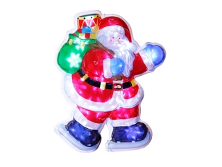 "Decor ""Santa"" Holograma, 50cm Red, 1 buc"