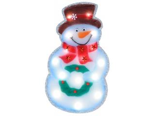 "Decor ""Snowman"" White, Led.+timer, 60cm, 1 buc."