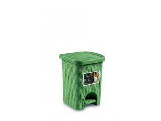 """Elegance"" Cos de gunoi verde 21x21cm, h28cm 6L, 1 buc."