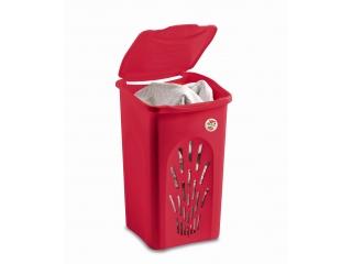 """""""Primavera"""" Cos rosu pt rufe 37x37cm h56cm 50L, 1 buc."""