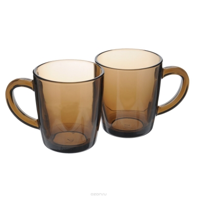 "Set mugs ""Basic Bronze"" 350 ml, 2 pcs., Tea and coffee mugs,"