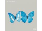 """Fluture decorativ """"Farfalla"""" blue cu clipsa, 1 buc."""
