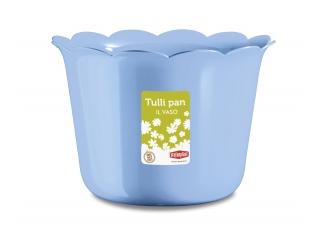 "Ghiveci p/u flori albastru""Tulli Pan"" d.20* 14.5 h cm, 1 buc."