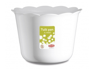 "Ghiveci p/u flori alb ""Tulli Pan"" d.25* 17.5 h cm, 1 buc."