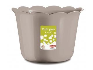 """Ghiveci p/u flori tortura """"Tulli Pan"""" d.25* 17.5 h cm, 1 buc."""