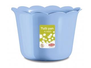 "Ghiveci p/u flori albastru ""Tulli Pan"" d.25* 17.5 h cm, 1 buc."