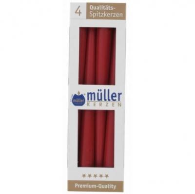 Luminare-conica Red 245 mm, 4 buc, Lumanari Conice,