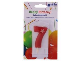 """Luminare Birthday cifra """"7"""" , 1 buc"""