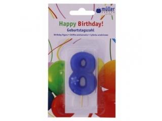 """Luminare Birthday cifra """"8"""" , 1 buc"""