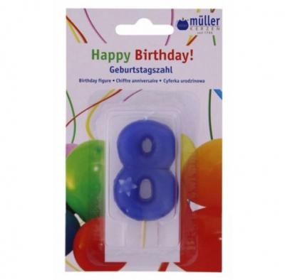"Luminare Birthday cifra ""8"" , 1 buc, Holidays,"