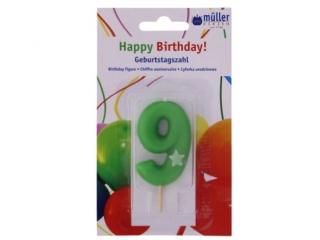 """Luminare Birthday cifra """"9"""" , 1 buc"""