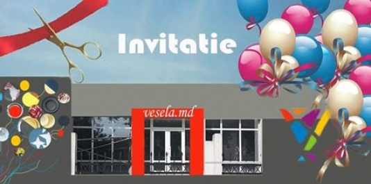 "Va invitam la noul magazin ""VESELA.MD"" din centrul capitalei!!!"