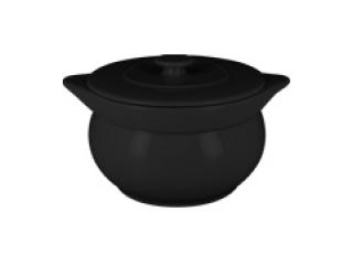 """""""Chefs fusion""""Supiera rotunda cu capac t/r 15 cm. Black,1 set"""