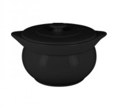 """Chefs fusion""Supiera rotunda cu capac t/r 15 cm. Black,1 set, CHEFS FUSION,"