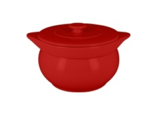 """Chefs fusion""Supiera rotunda cu capac t/r 15 cm. Red,1 set"